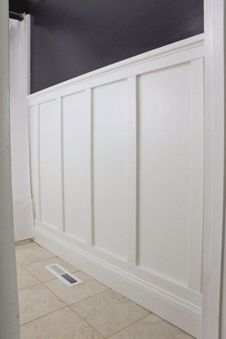 Board And Batten Bathroom Diy Wainscoting Bathroom