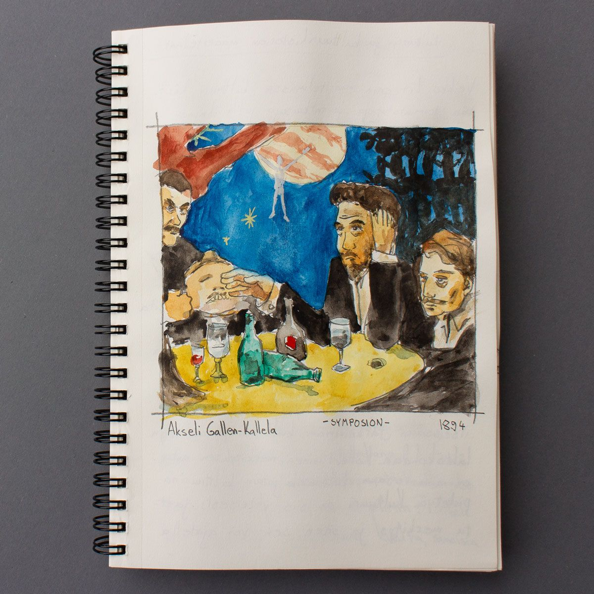 A sketch from the Gallen-Kallelas painting Symposion. By Petri Fills #sketching #gallenkallela