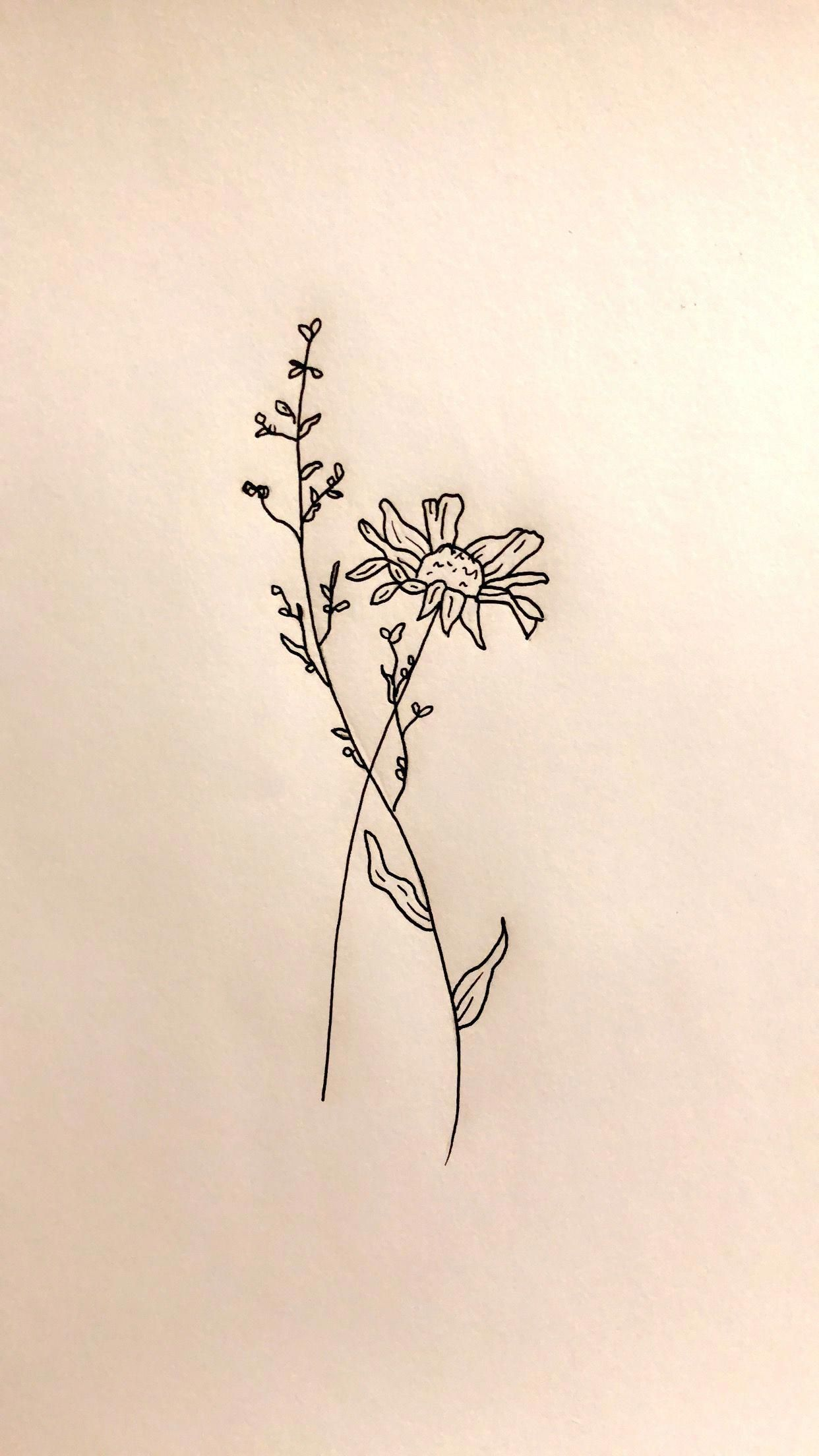Flower Tattoo Design Drawn By Cassidy Benbow Please Post Pictures If You Ve Tried This Pin Fl Simple Flower Tattoo Flower Tattoo Designs Flower Tattoo