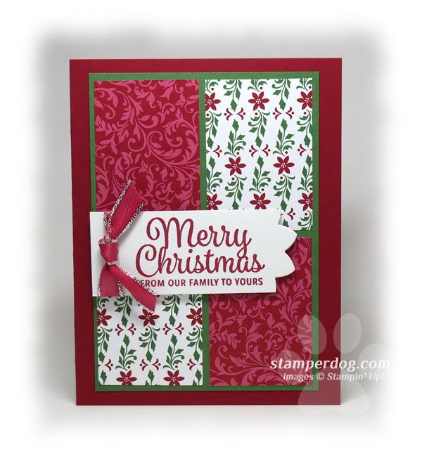 Quick and Easy Christmas Card Idea • Stampin' Up! Demo Ann M. Clemmer & Stamper Dog Card Ideas