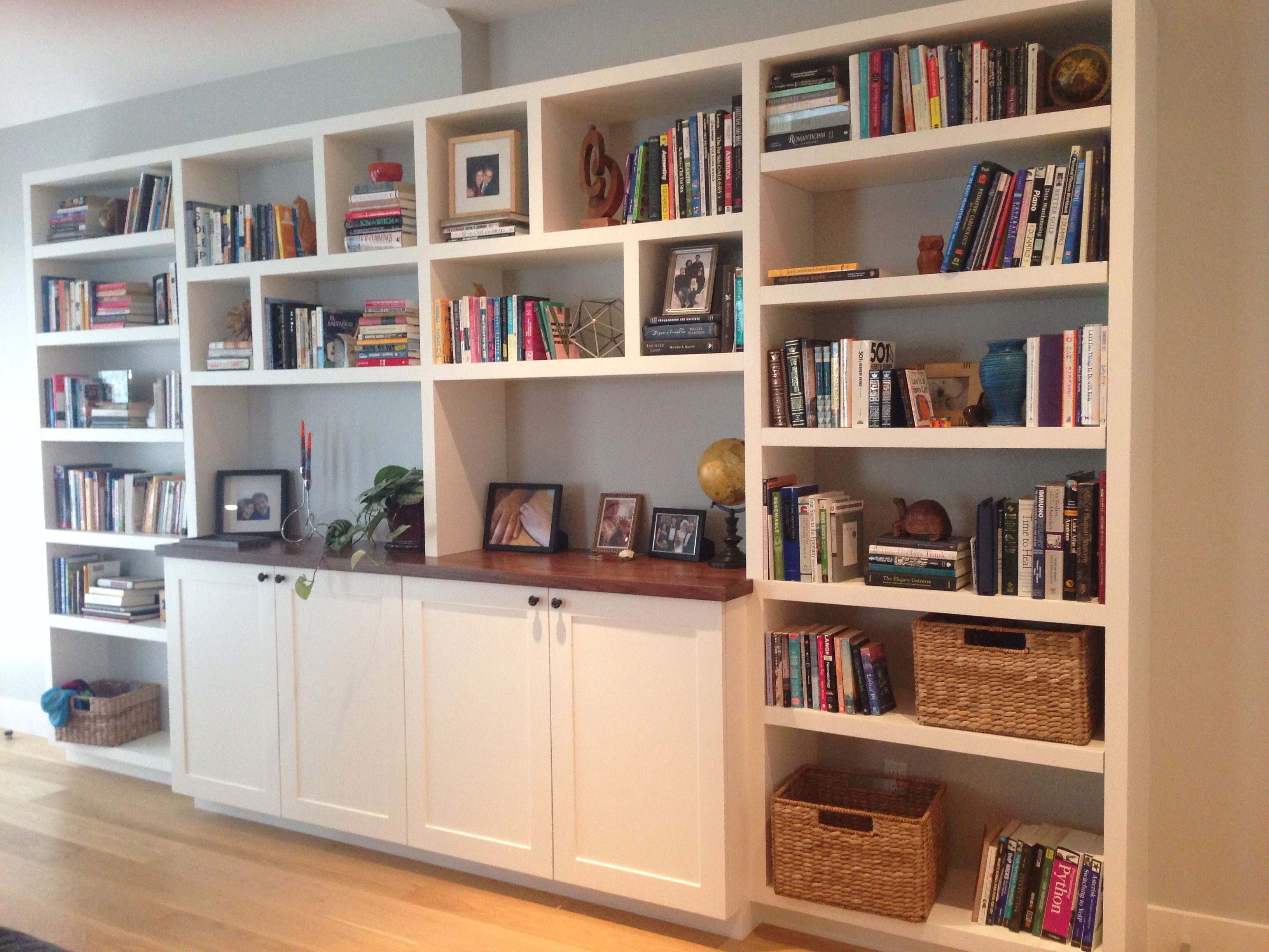 Built in bookshelves installed librerias pladur - Libreria de pladur ...