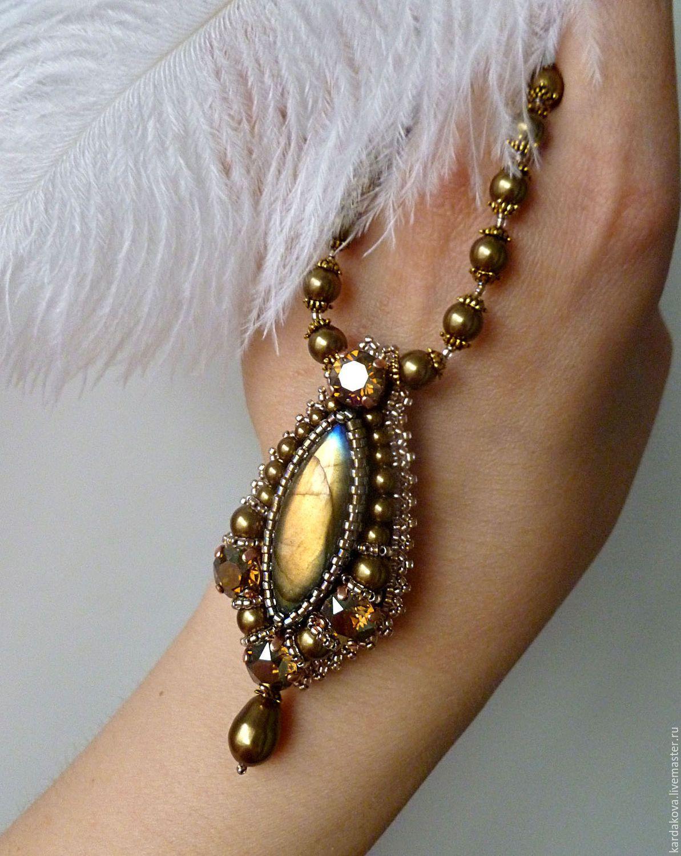 схема колье с каплями из bead&button