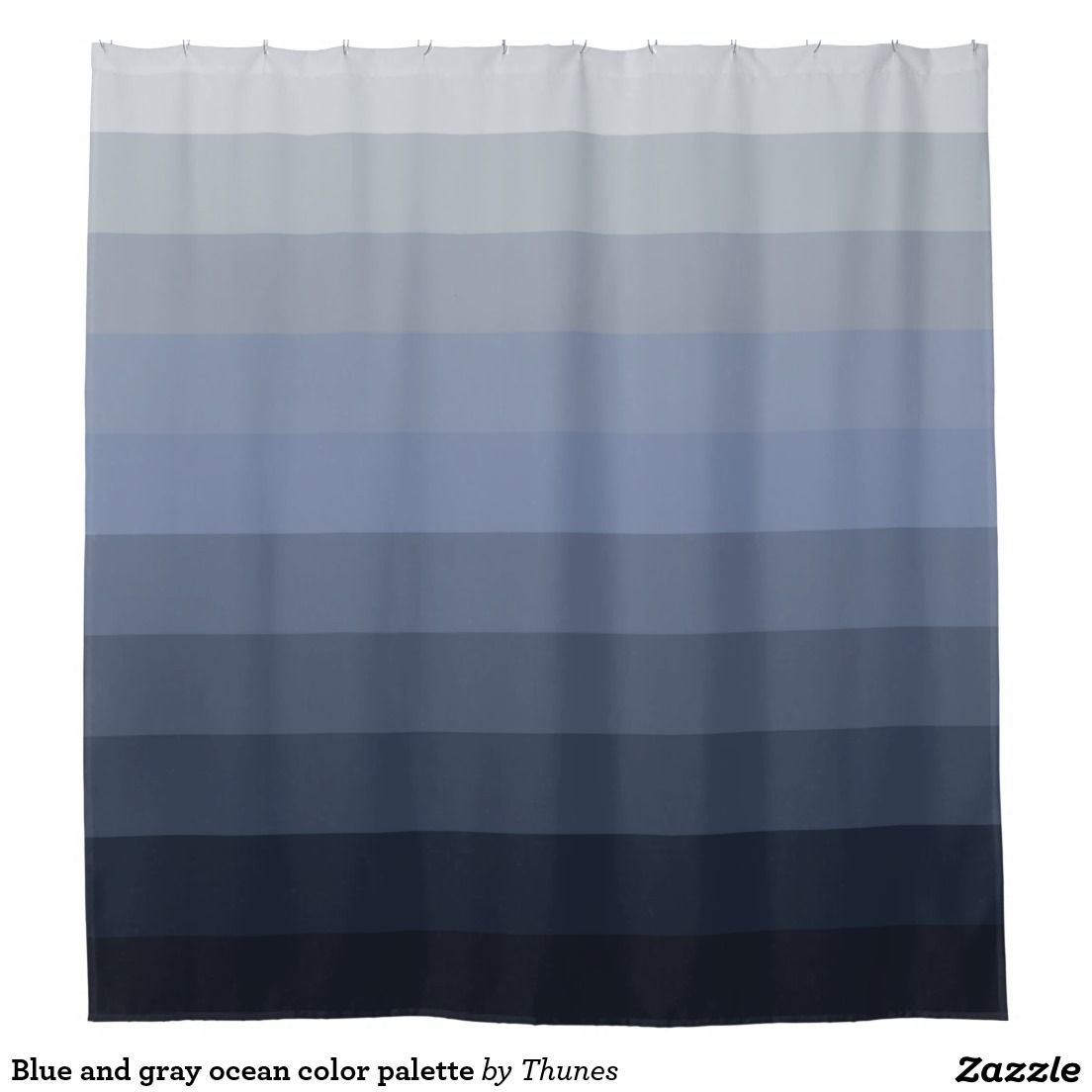 Blue And Gray Ocean Color Palette Shower Curtain