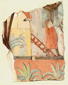 House With Ladder And And Figure From The Land Of Punt Scenes In