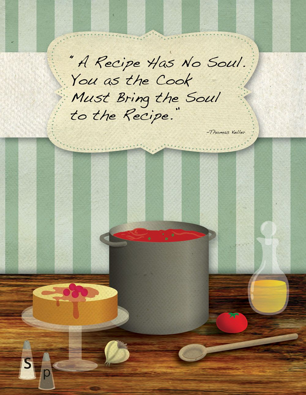 I Originally Did This Design For The Cover Of A Family Cookbook Was Working On My Senior Year Friend Recently Asked Me To Put Cooking Quote It