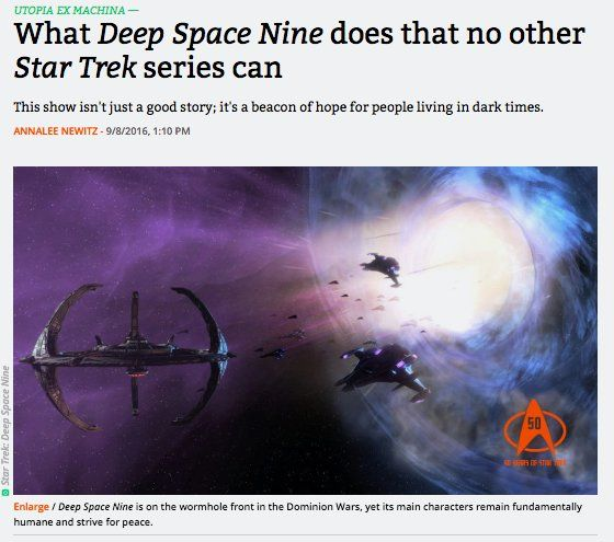 arstechnica: When life hands you the sourest of lemons you... watch Deep Space 9. #StarTrek  https://t.co/z28H6y5gZ0