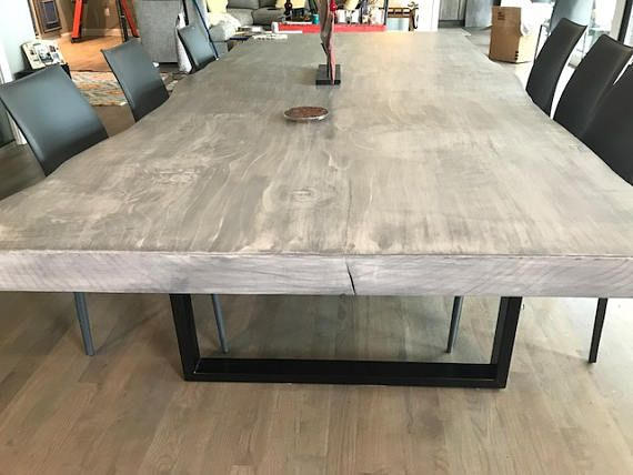 Modern Dining Table Live Edge Dining Table Dining Table Live
