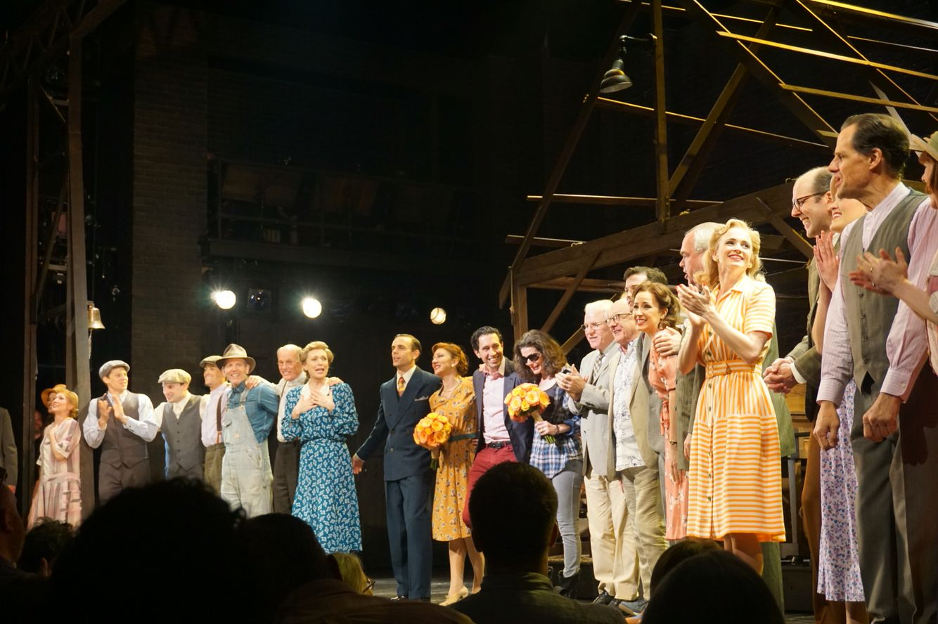 Curtain Call At The Final Show Of Bright Star On Broadway