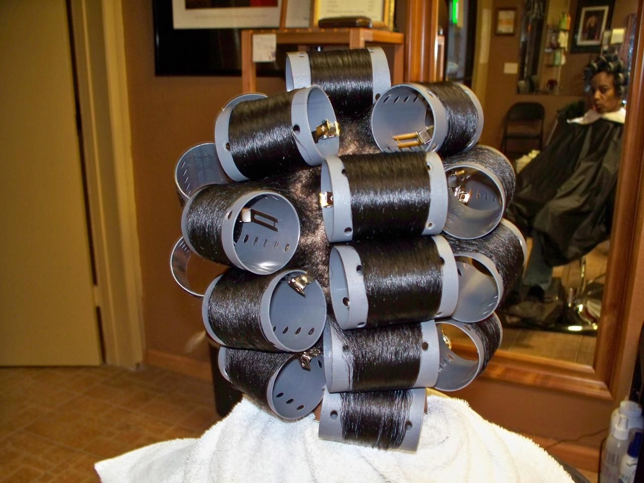 Phenomenal Roller Setting Relaxed Hair Roller Set Rollers And Curlers Short Hairstyles For Black Women Fulllsitofus