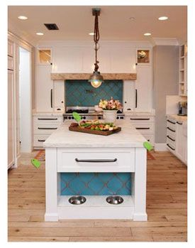 Rancho Santa Fe, California   Mediterranean   Kitchen   San Diego    Intimate Living Interiors (I Like The Idea Of Having The Pet Food Bowls  Built Into The ...