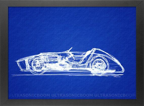 Digitally altered blueprint of my original handmade pen sketch of digitally altered blueprint of my original handmade pen sketch of a classic f1 racing car malvernweather Gallery