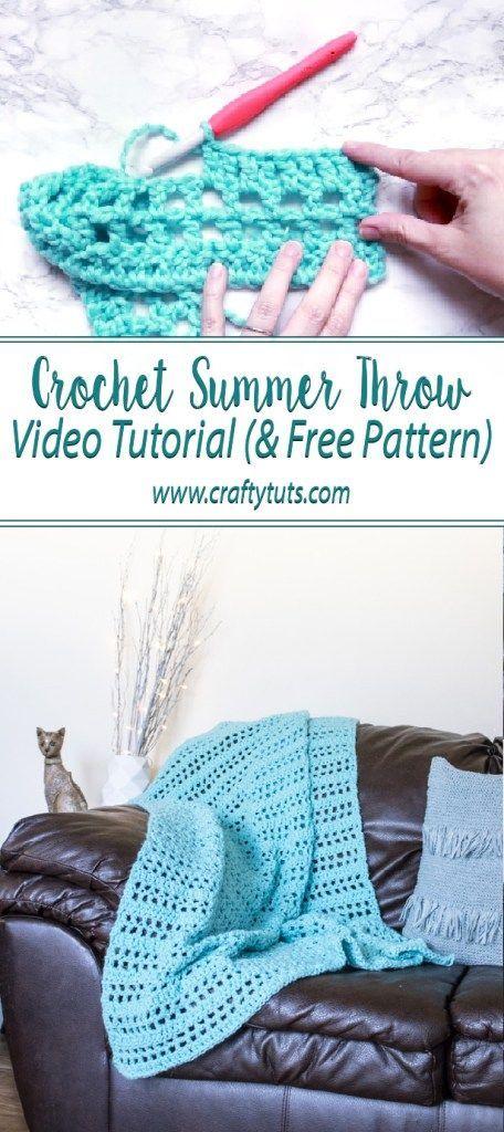 Crochet Summer Throw Video Tutorial   Free Crochet Patterns from My ...