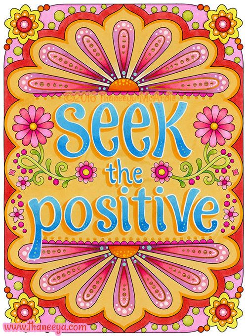 Seek The Positive Coloring Page From Thaneeya Mcardle S