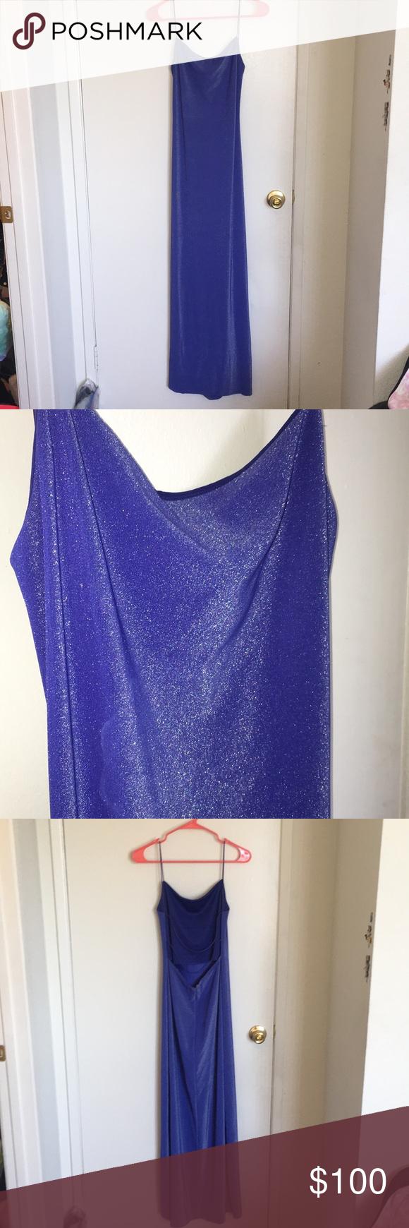 Long blue us inspired prom dress my posh picks pinterest