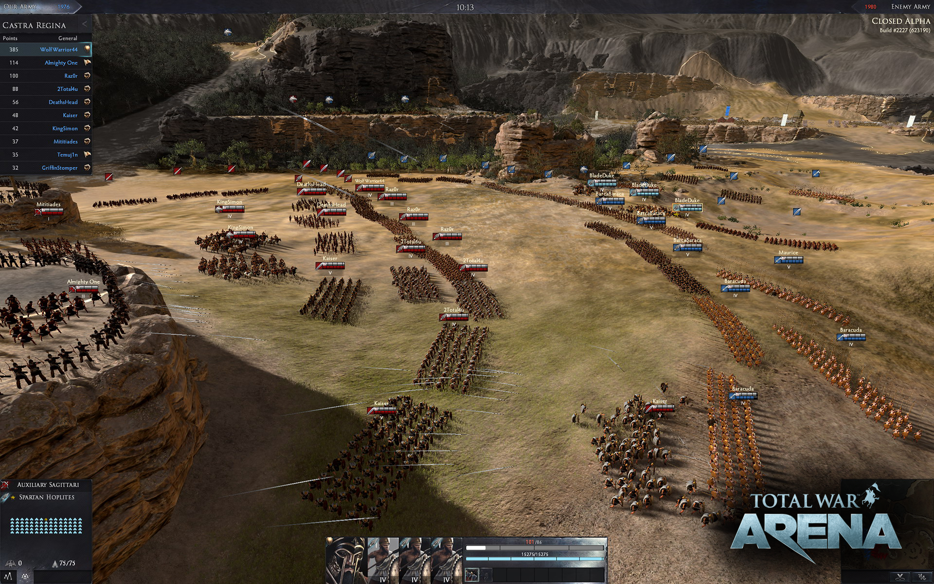 Total War Arena Gets First Gameplay Trailer, Alpha Sign
