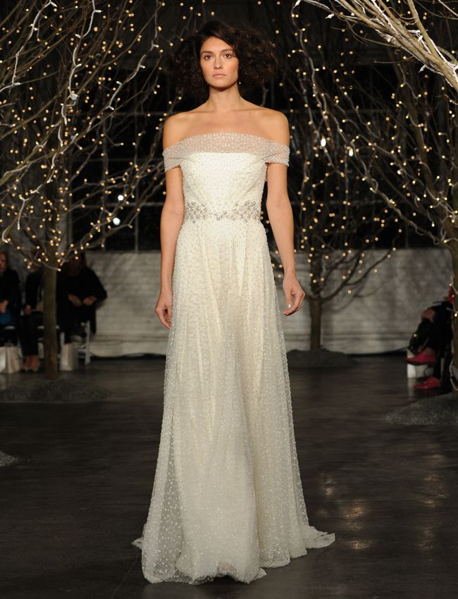 I love a subtle sparkle, but it's this neckline that is seriously stunning! Jenny Packham // The Knot