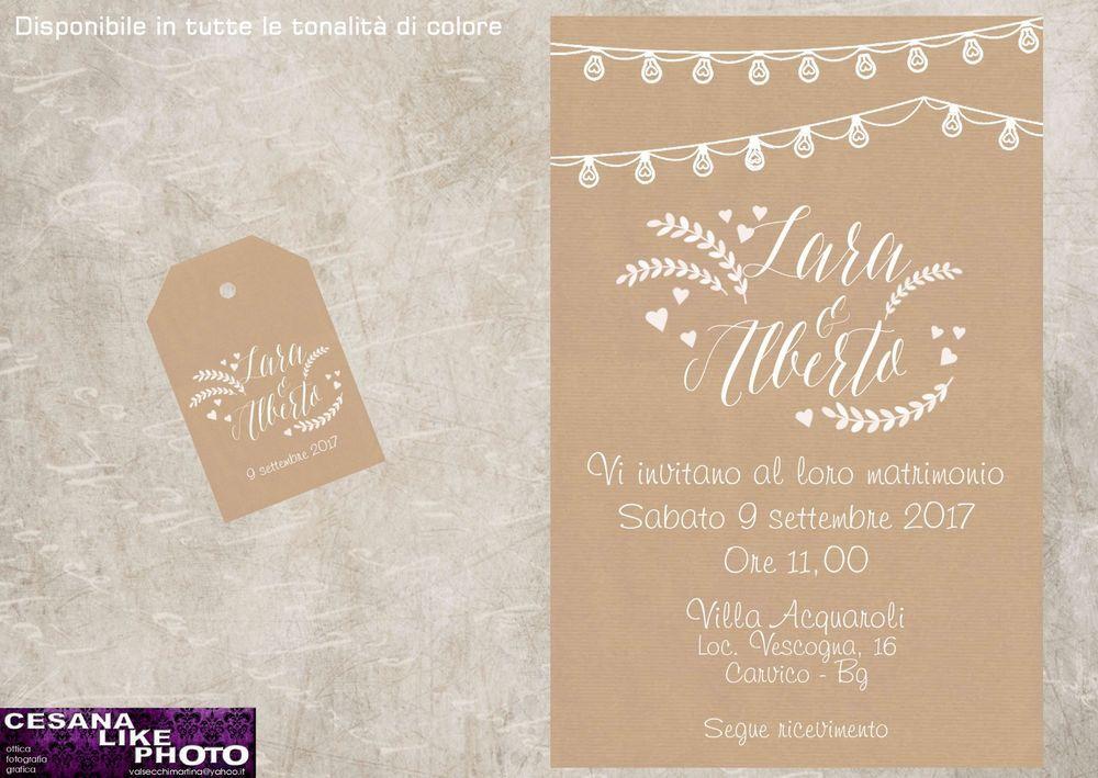 Partecipazioni Matrimonio Kraft.Partecipazioni Personalizzate Matrimonio Inviti Nozze Sposa Kraft