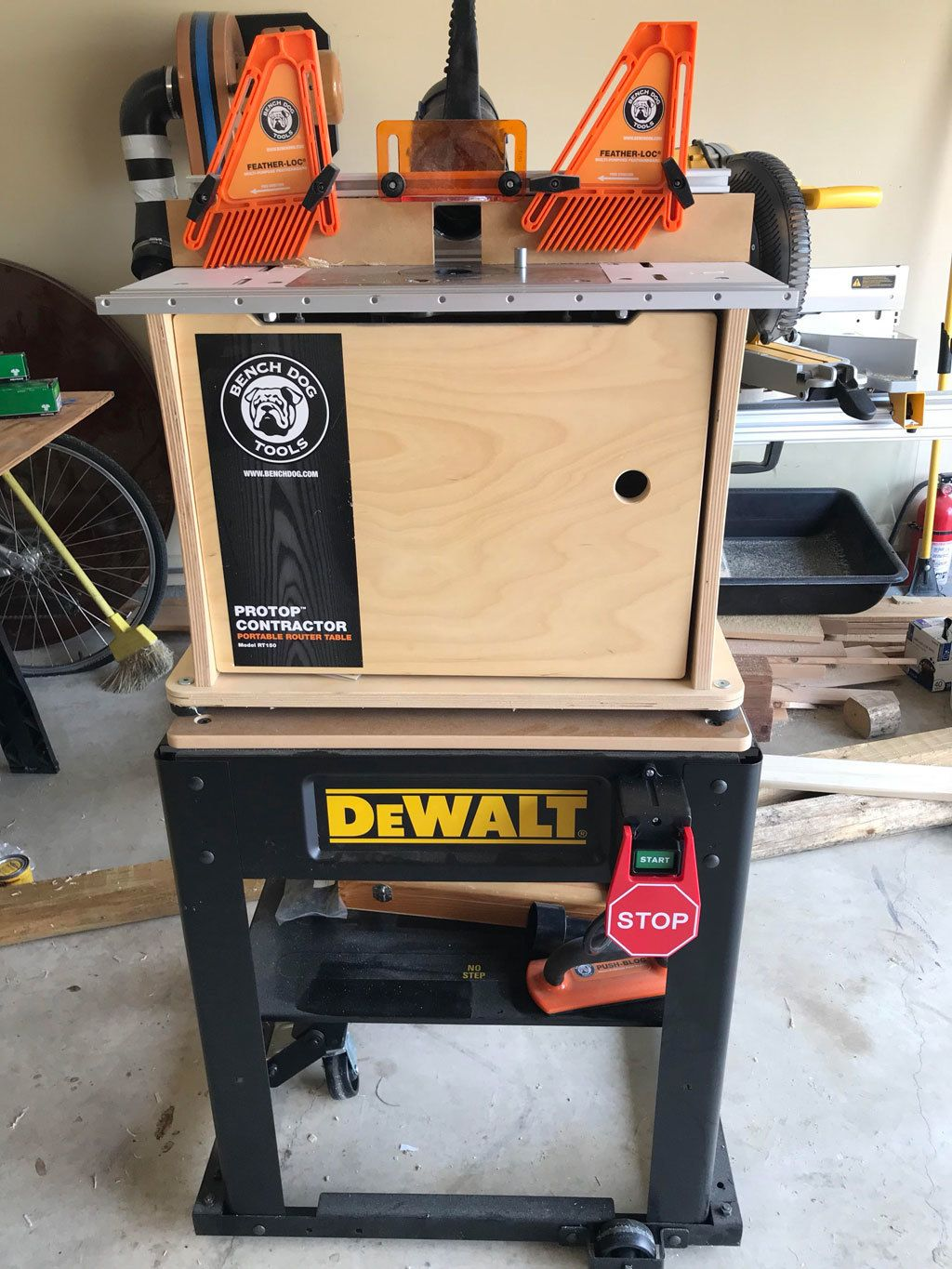 Safety Power Tool Switch Homemade router table