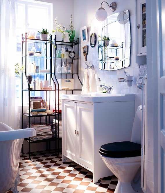 Pavimento A Scacchiera Bagno Piccolo  Home  Pinterest  Ikea Captivating Ikea Small Bathrooms 2018