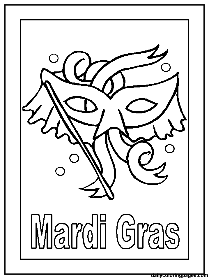 Mardi Gras Coloring Pages Holiday 03 718x
