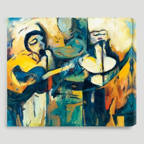 One of my favorite discoveries at WorldMarket.com: 'Three Musicians' by Karen Silve