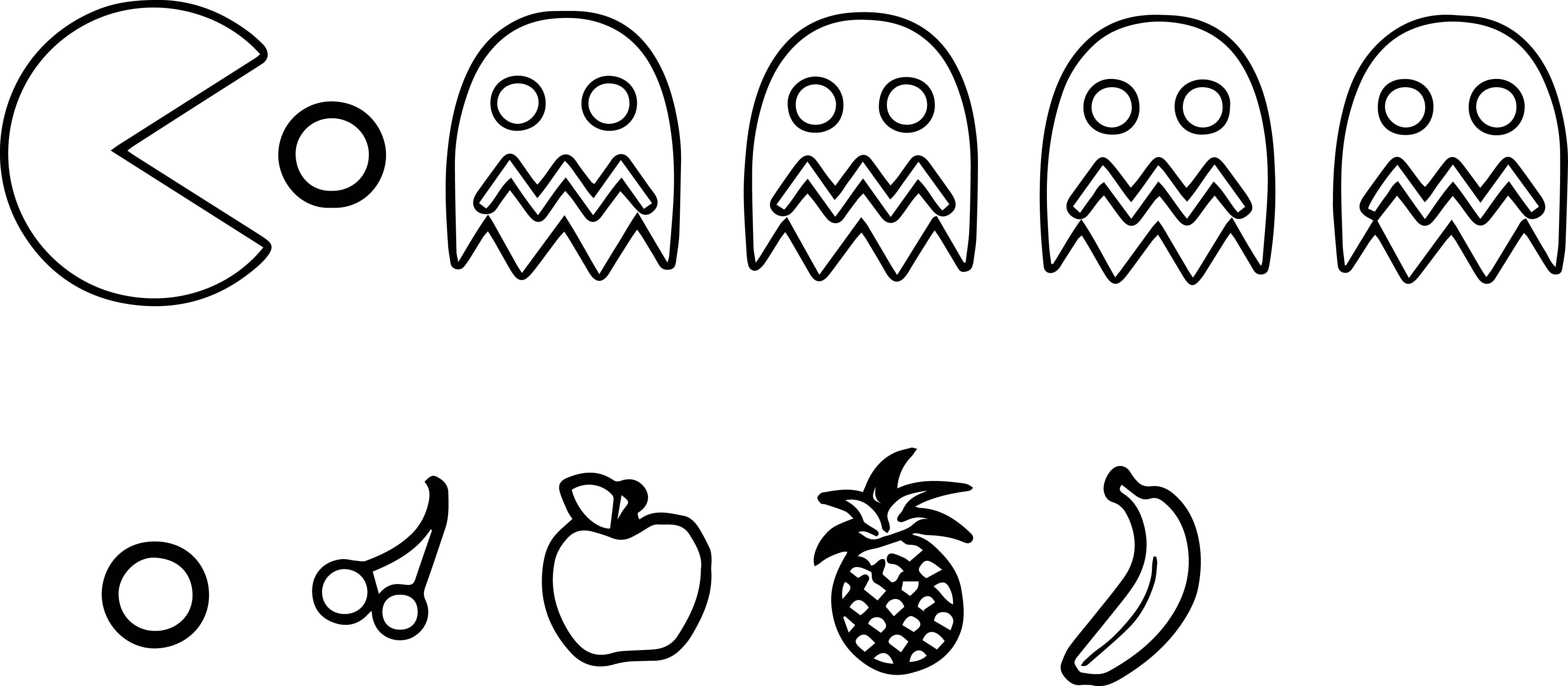 Fundamentals Pac Man Coloring Pages To Print Unique Fruit Gallery Printable Sheet