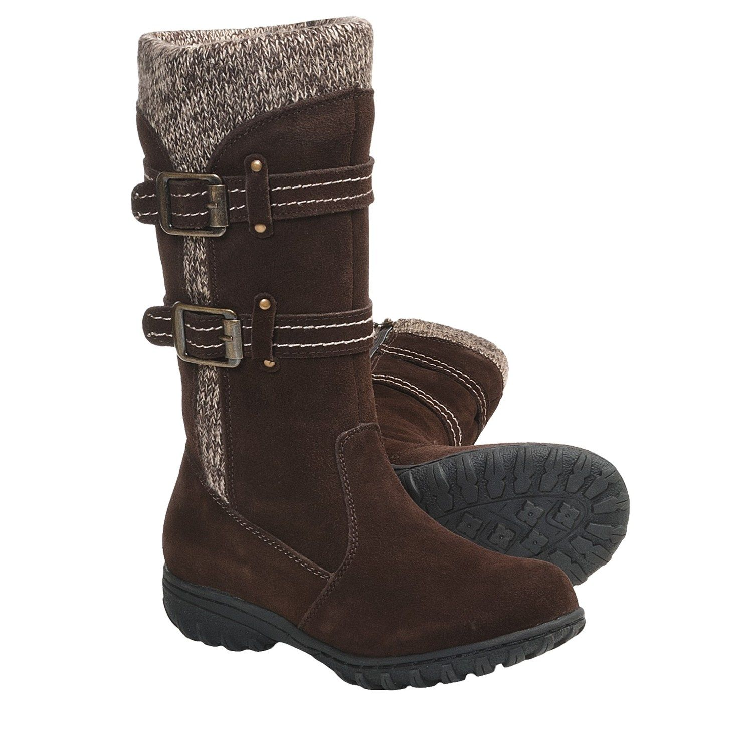 Khombu Boulder Sweater Boots - Suede, Insulated (For Women) in Brown $52.81
