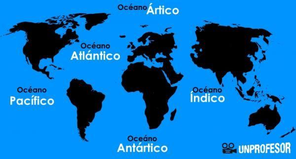 Nombres De Los Océanos Del Mundo Con Mapas Continentes Y Océanos Océanos Del Mundo Mapa De Los Oceanos