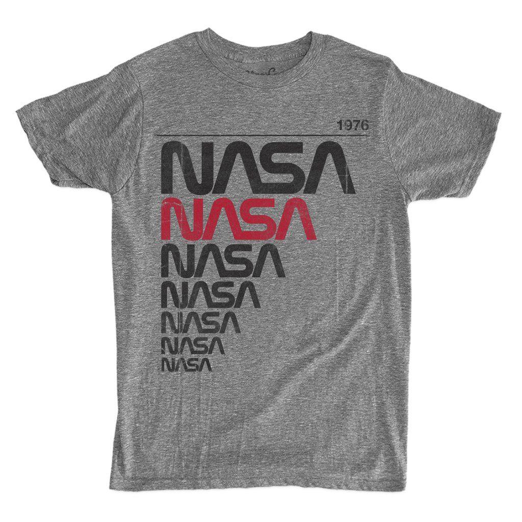 Men's NASA Worm 1976 TShirt Nasa clothes, Shirts, Nasa
