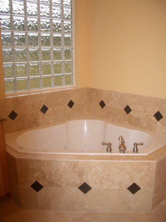 Whirlpool Jetted Tub, Travertine Marble & Granite Inserts Skobel ...