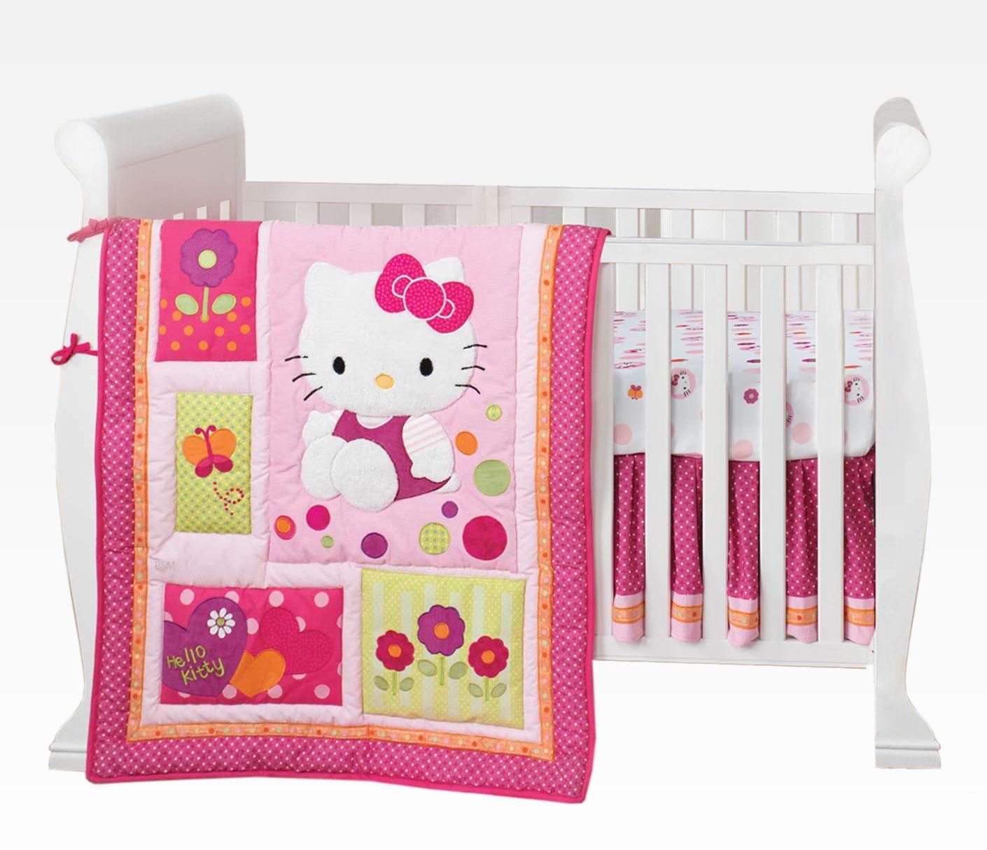 Hello Kitty 5 Piece Crib Bedding Set Hello Kitty Bed Hello