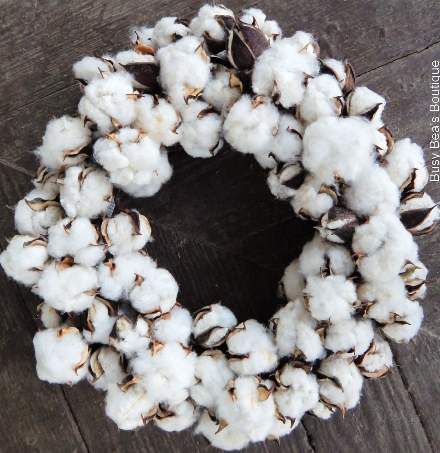 Classic Holiday Cotton Boll Wreath  Christmas Wreath, Centerpiece, Front  Door Wreath, Fall Wreath,year Round Wreath,door Wreath,candle Ring