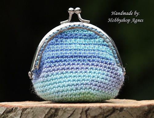 Portemonnee Knip Met Gratis Haakpatroon Crochet Crochet Coin