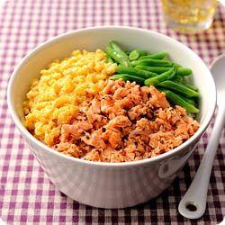 三色洋風ごはん Three-colored rice bowl in Western style