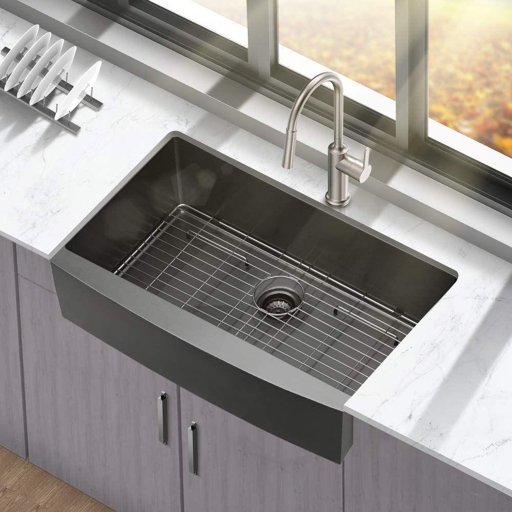 Black Farmhouse Sinks Farmhouse Goals In 2020 Black Farmhouse Sink Kitchen Sink Design Sink