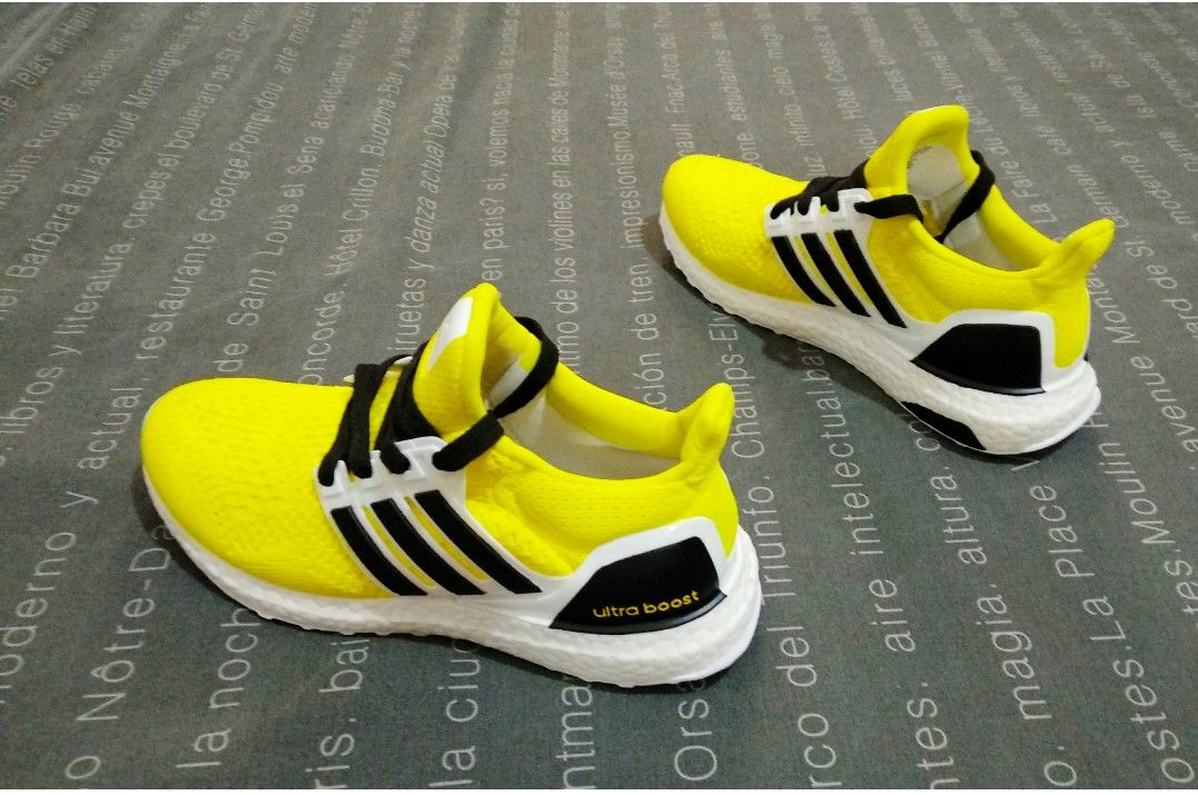 9697b4376b44d Adidas UltraBoost Black   Yellow Customized by Me Yellow Adidas