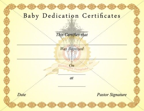 Baby Birth Certificate Template Delectable Pincertificate Template On Baptism Certificate Template .