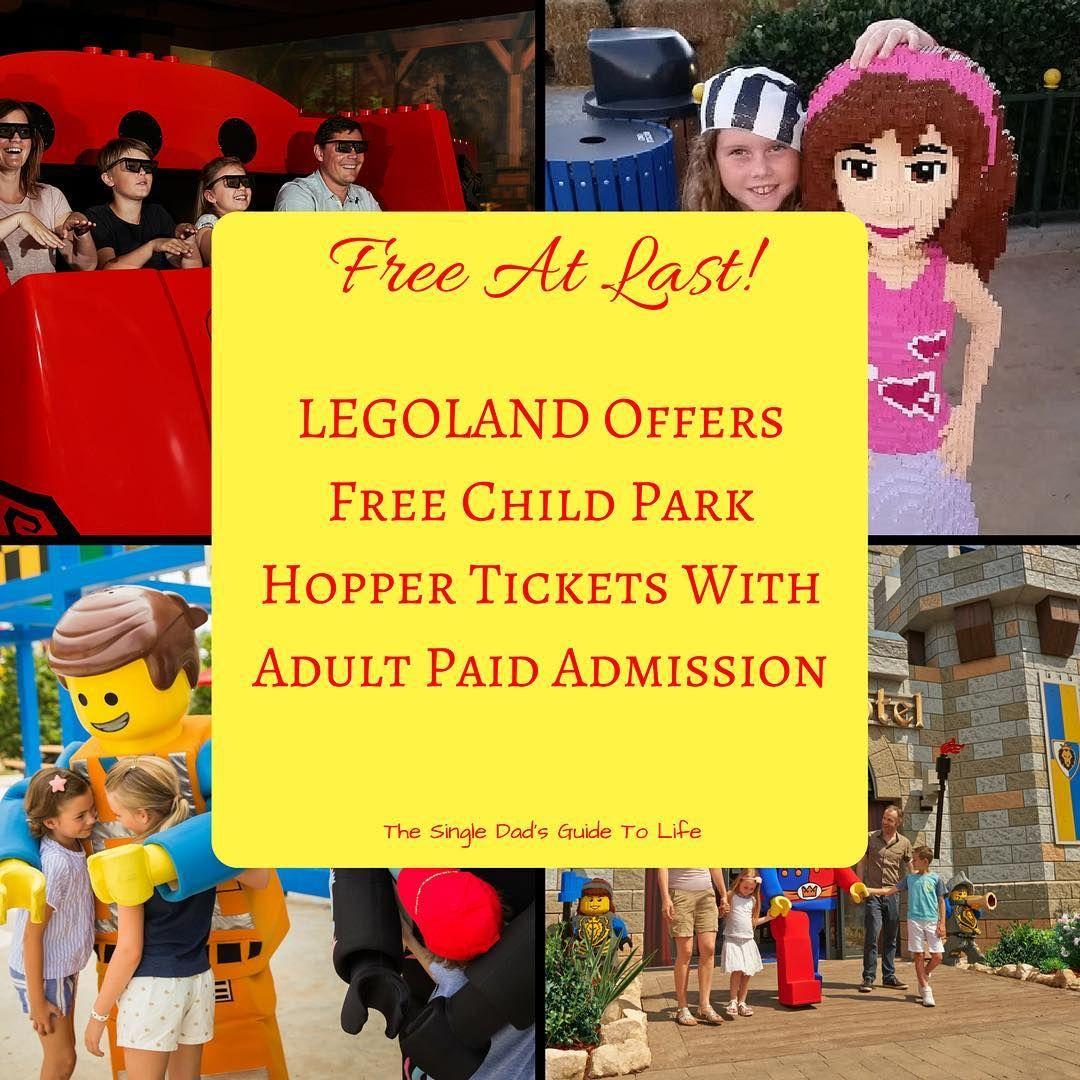 Free At Last Legoland Offers Free Child Park Hopper Tickets With Adult Paid Admission Legoland Single Dads Legoland California