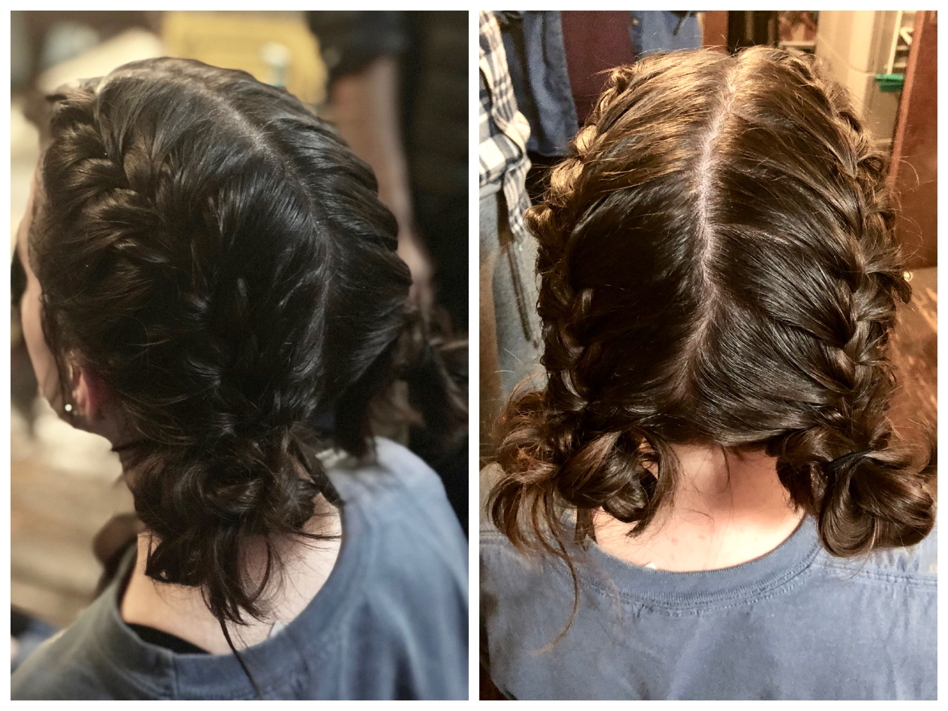 Cabin Social Maddy Double French Braids Into Messy Buns Double French Braids Braided Hairstyles Hair Treatment