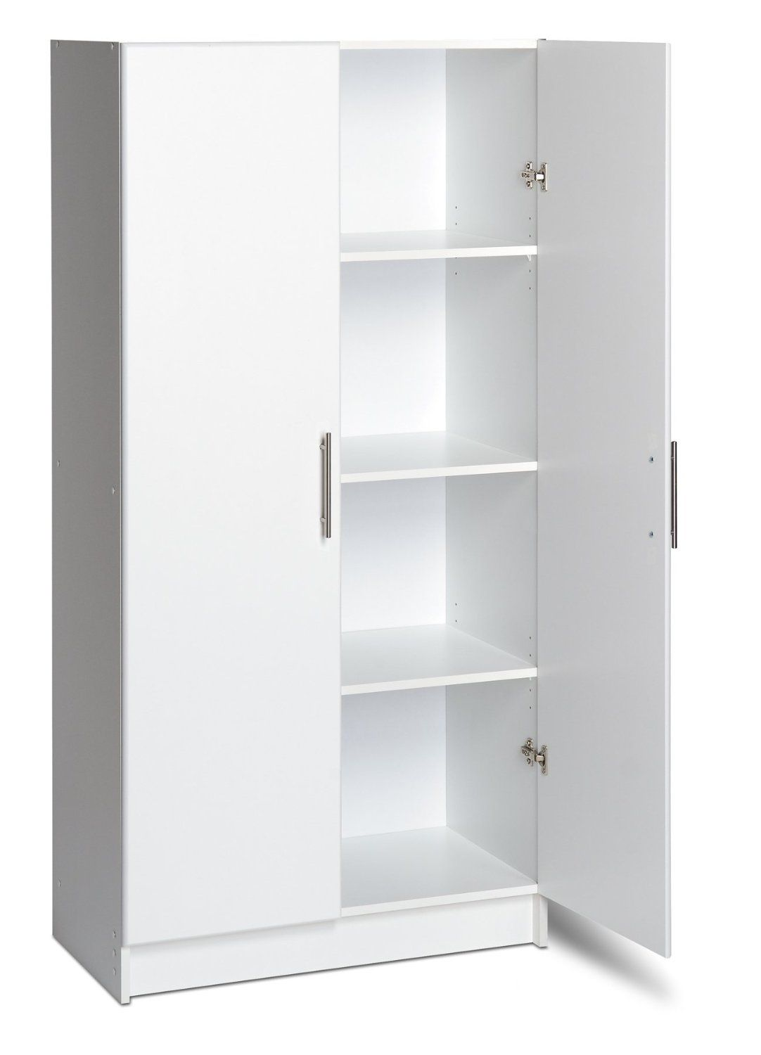 Prepac Storage Cabinet Kitchen Pantry Garage School Room Home Office Shelf  White