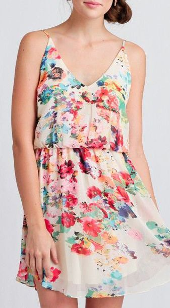 3212e3e035b Ethereal Bouquet Floral Dress
