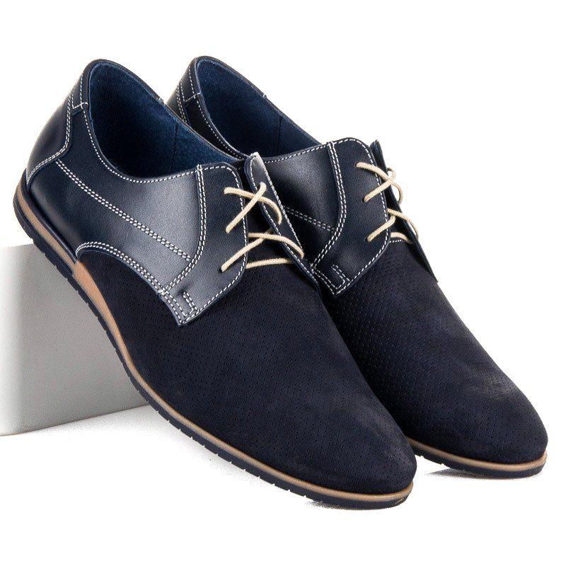Polbuty Meskie Lucca Niebieskie Azurowe Polbuty Lucca Lucca Chukka Boots Dress Shoes Men Dress Shoes