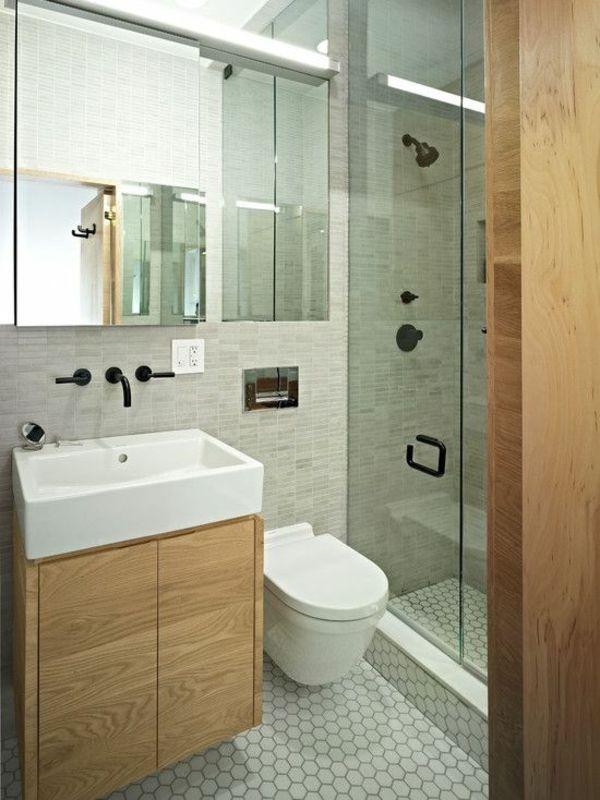 Hervorragend Klein Bad Fliesen Dusche Badgestaltung Moderne Badezimmer Ideen Holzmöbel