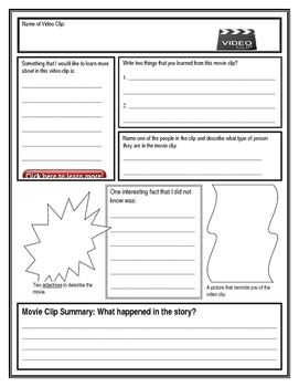 This is a movie notes template to use for videos watched in class.  Taking notes…