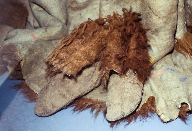 During the winter months the tribes of the Great Plains such as the Cheyenne, Sioux, Arapaho and Mandan would make buffalo fur moccasins to keep their feet warm during the long harsh winter season.