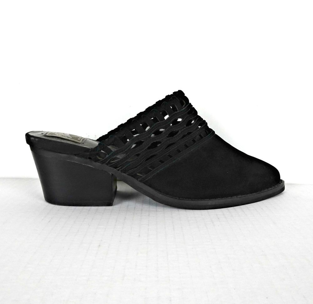 c3882497cce Jeffrey Campbell Vintage Black Cucamonga Mules Shoes 9 Cutout Leather  Pointed  VintagebyJeffreyCampbell  Mules  Casual