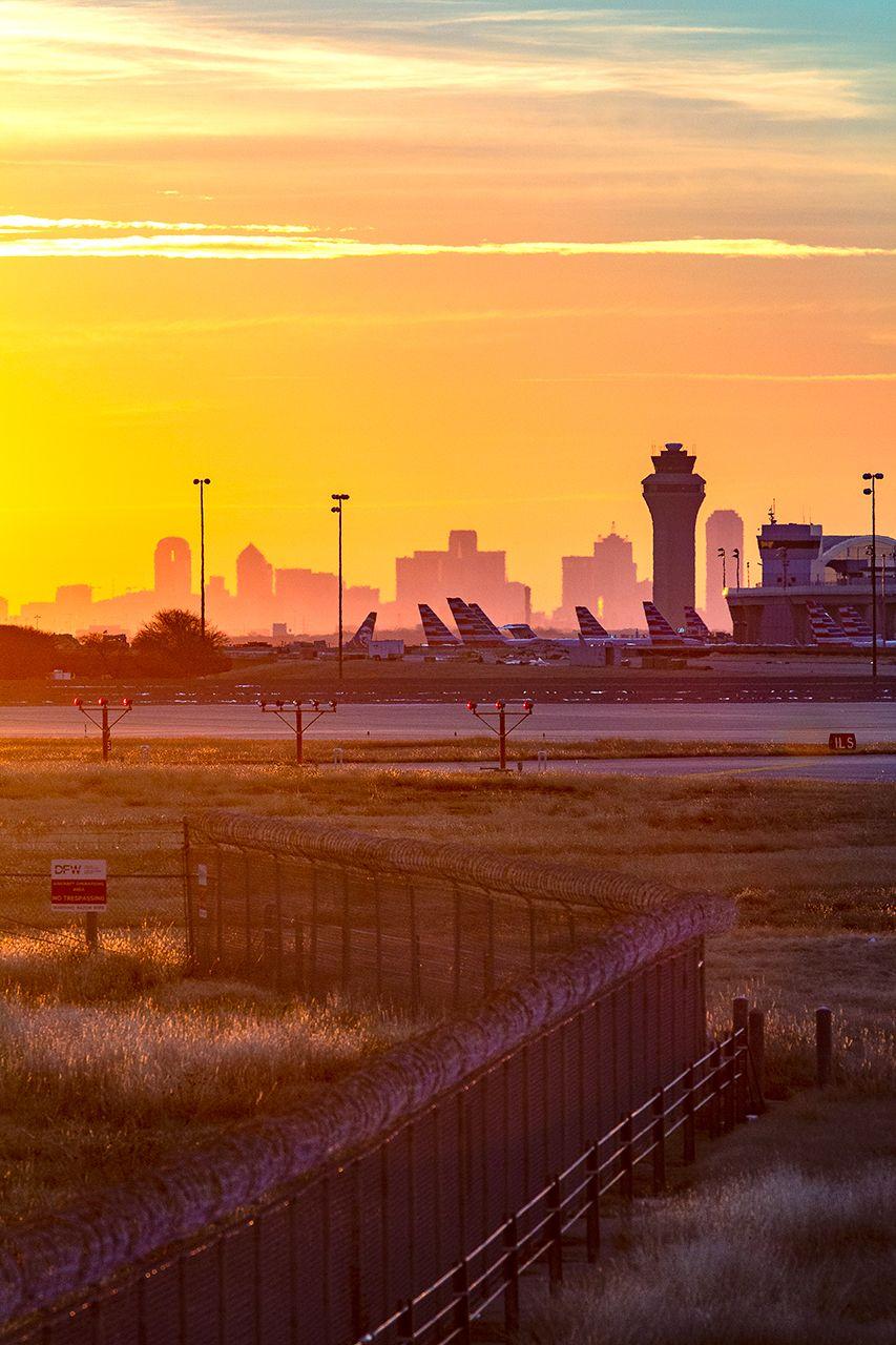Dallas Print DFW Skyline Sunrise Dallas Skyline from