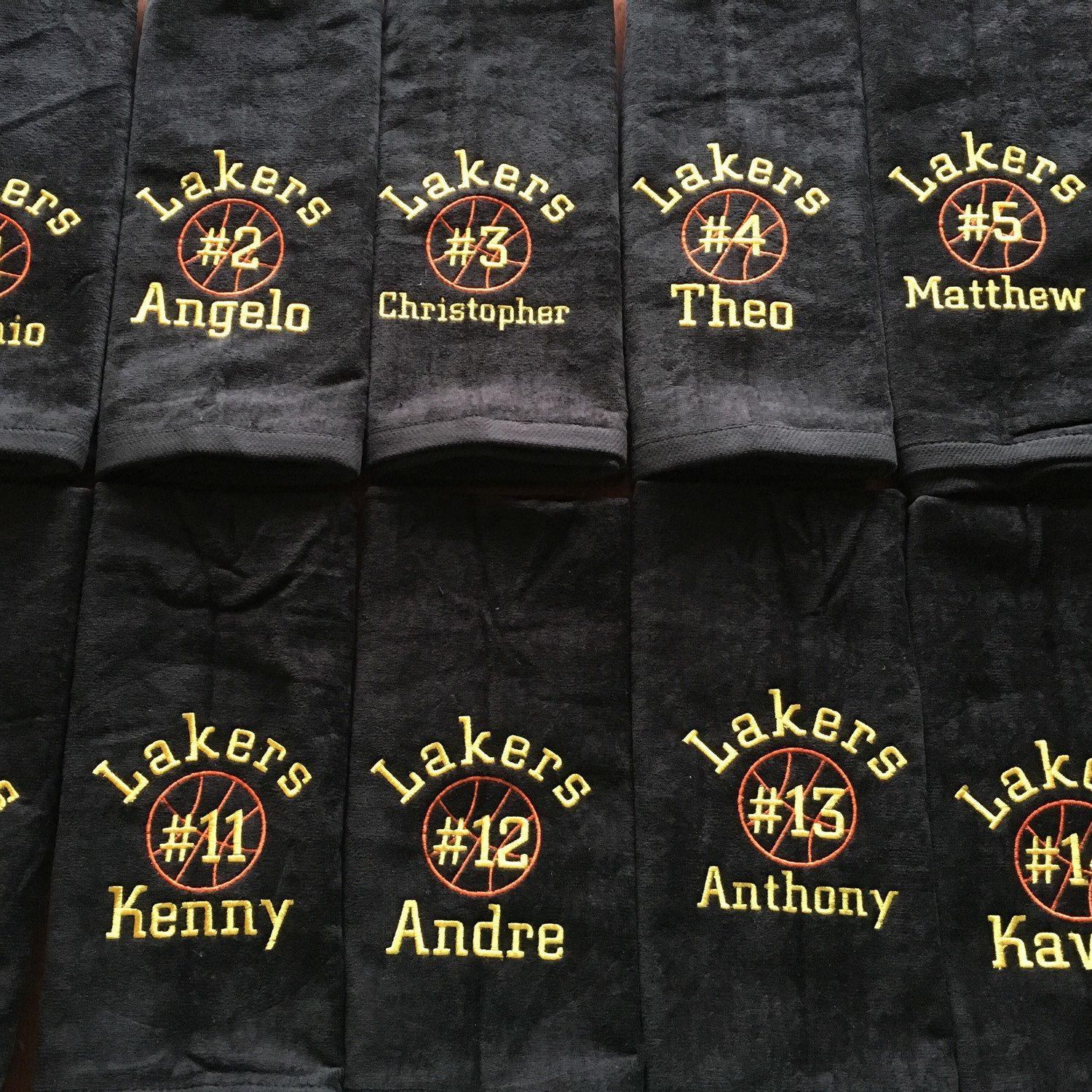 641b69b465 Personalized basketball towels. Great team gift. | Basketball towels ...