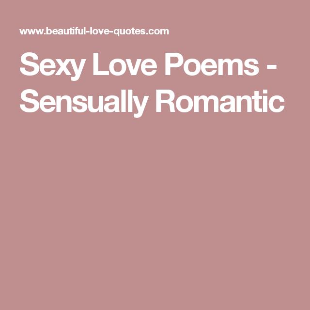 Sexy romantic love poems