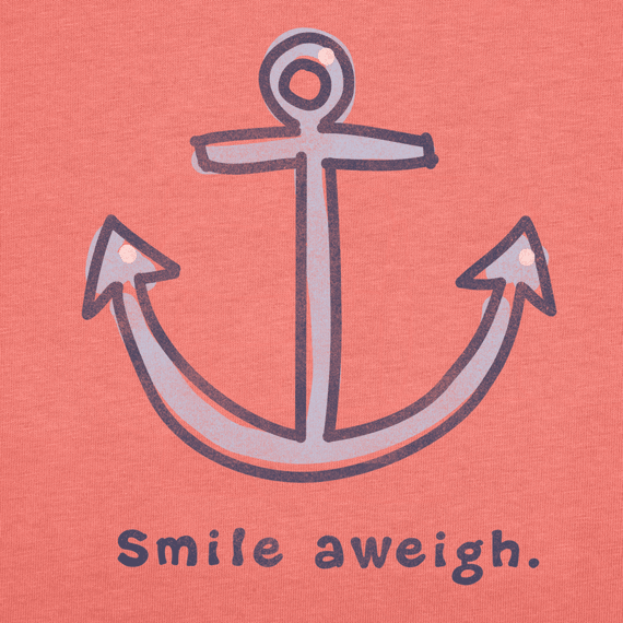 Women's Smile Aweigh Short Sleeve Crusher Tee | Beach Tee Shirts | Life is good